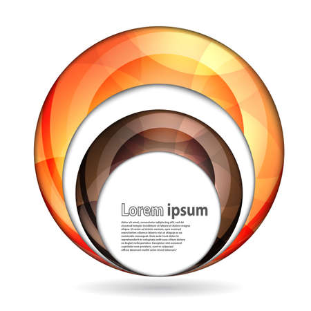 brown swirl: Abstract swirl energy brown and orange sphere futuristic frame modern hi-tech folder template. Vector illustration Illustration