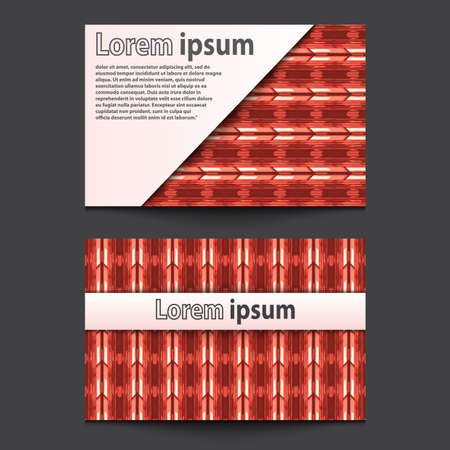 ide: Business Card Design Neon red 3d arrow wave line abstract background. Eps 10. Vector illustration