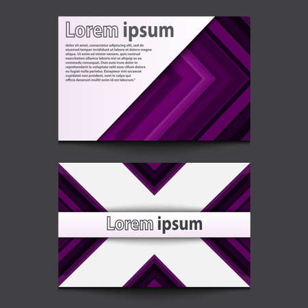 ide: Business Card Design violet arrow line abstract background. Eps 10. Vector illustration