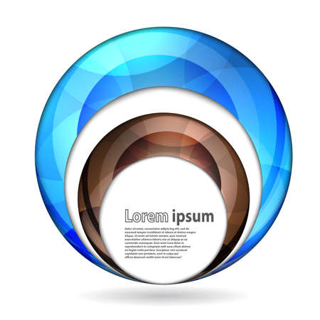 abstract swirl: Abstract swirl energy blue and brown sphere futuristic frame modern hi-tech folder template. Vector illustration
