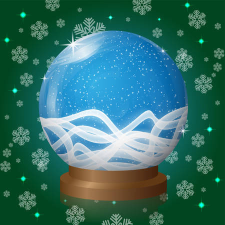 blizzard: empty snow globe with blizzard retro design. Vector Illustration