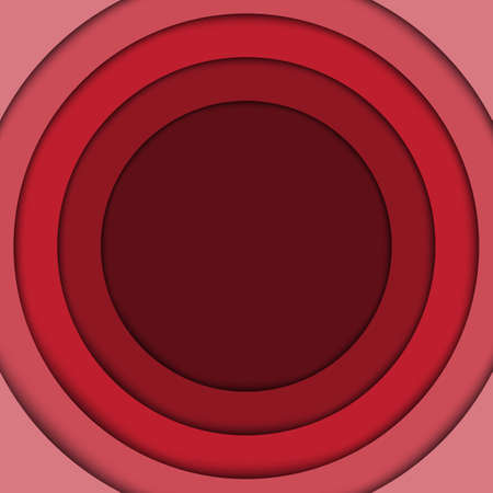 abstract vector background: Abstract red 3d circle wave line certificate abstract background. Vector Illustration Illustration