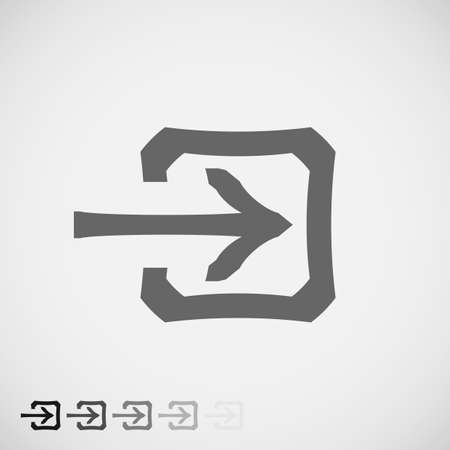 approach: Login Icon in trendy flat style isolated on grey background. Approach symbol for your web site design, app, UI.  Illustration