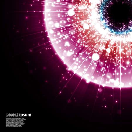 pink and black: pink galaxy explosion on black background. Illustration Illustration