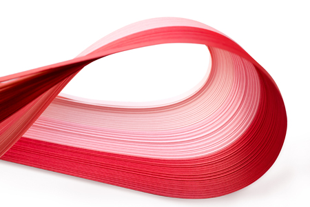 quilling: quilling paper isolated on white Stock Photo