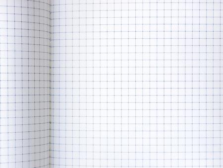 グラフ用紙シート 背景のノートブックを開くのクローズ アップ