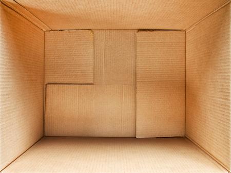 골 판지 상자 내부입니다. 광각 상세한 평면도