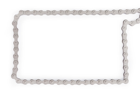 Silver Bike Chain As Frame. Template And Background With Copy ...