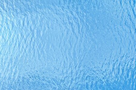 Blue sea surface top view. Water texture and background Stock Photo