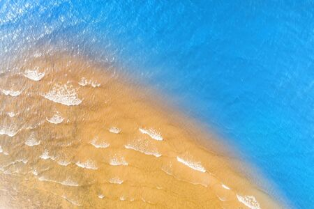 Tropical sea coast aerial view. Natural texture and background Stock Photo