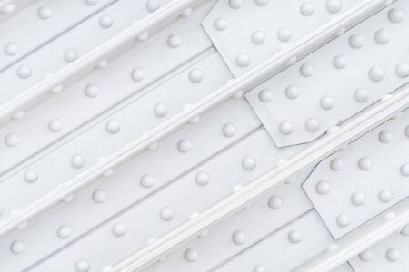 White heavy steel construction close up. Industrial texture and background