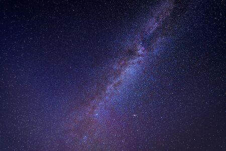 Starry night. Milky way long exposure grainy night shoot