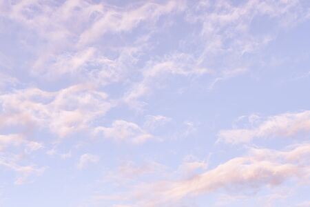 Light cloudy sky. Cloudscape at sunny day natural texture and background