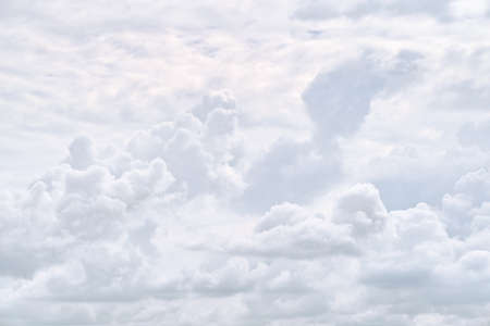 White dramatic clouds in the sky. Natural texture and background