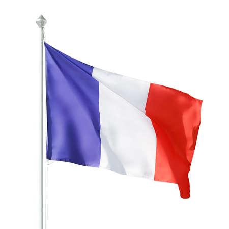 French republic flag on flagpole. Reklamní fotografie