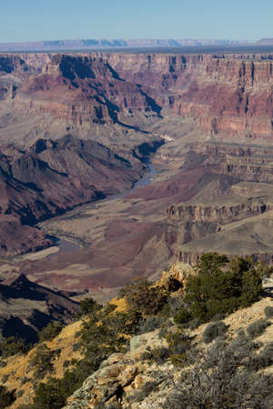 colorado river: Looking down on the Colorado River in the Grand Canyon.