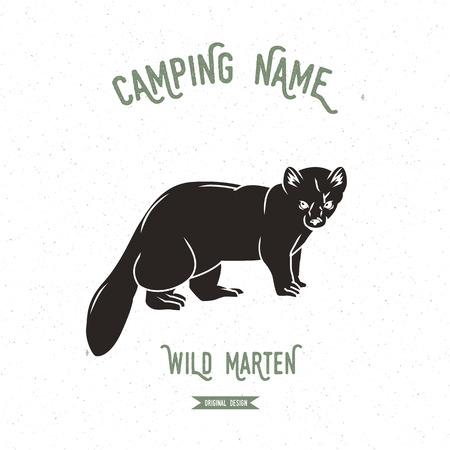 marten: Forest marten vector illustration.