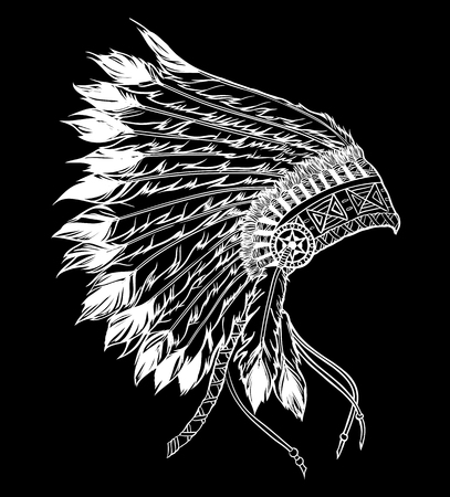 indian chief: Native american indian chief headdress. Vector illustration