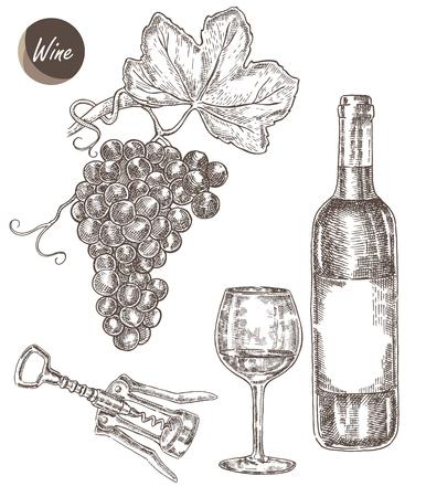 ワインは、手描きを設定します。ワインのボトル