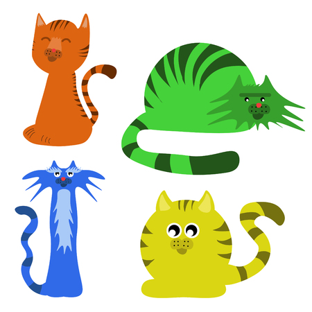 The Cute lovely cat, line Cartoon character Stok Fotoğraf