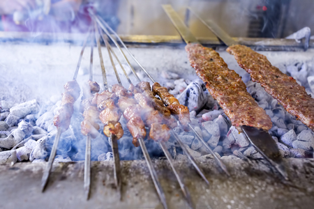 The Turkish Foods; Gourmet flavors Adana kebab 版權商用圖片