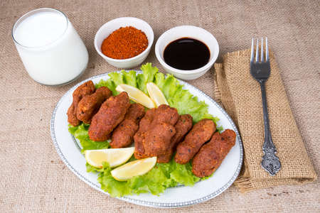 Traditional delicious Turkish food; Turkish name; cig kofte