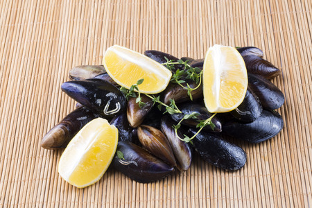 Delicious seafood; Stuffed mussels, stuffed mussels
