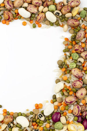 The Dried foods; mixed raw legumes, background