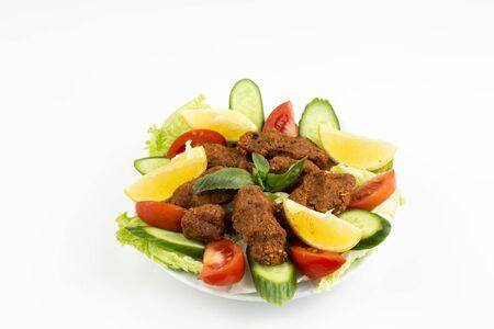 Traditional delicious Turkish foods; bulgur kofte (cig kofte)