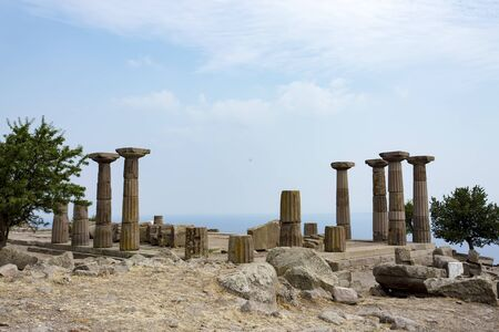 Assos, ruins of ancient city, Behramkale, Turkey