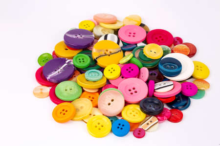 Sewing buttons background. Colorful sewing buttons texture