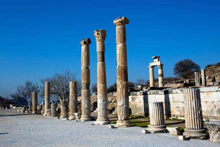 Turkey Izmir Ephesus Ancient City, Historical city Stock Photo