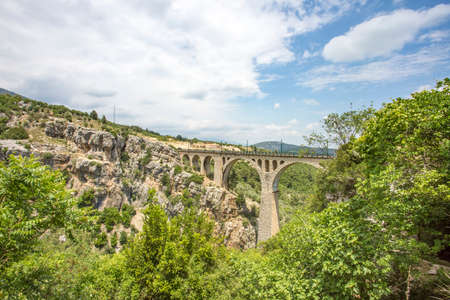 Travel concept photo. Turkey Adana Varda bridge.