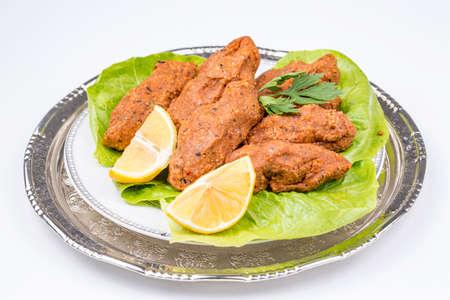 Traditional Delicious Turkish foods; bulgur kofte (cig kofte) Imagens