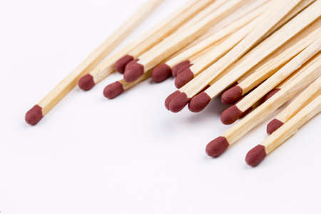 Wooden matches isolated on a white background