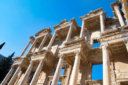 Travel concept photo; Turkey Izmir Selcuk Historical Ephesus ancient city