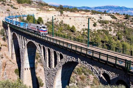 Historical Varda Bridge, Turkey / Adana. Travel concept photo. Stock Photo