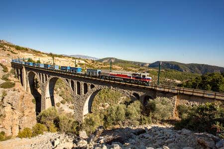 Historical Varda Bridge, Turkey / Adana. Travel concept photo.