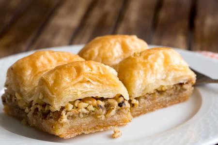 Turkish kitchen; Traditional delicious Turkish desserts; Baklava