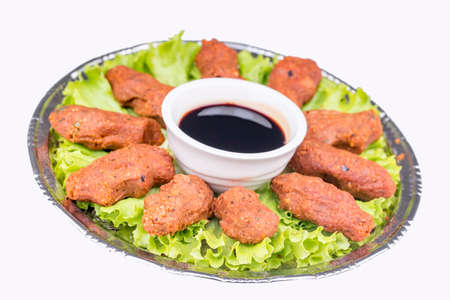Traditional delicious Turkish foods. Raw Bulgur meatball (Cig kofte)