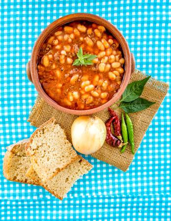 Traditional delicious Turkish foods; dried bean. Turkish kitchen.