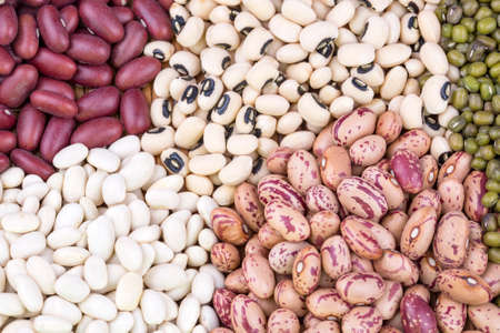 Dried foods; mixed legumes. isoleted on the white background Standard-Bild