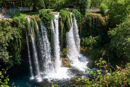 Turkey Antalya Duden Waterfall ladscape. Spring season. Stock fotó