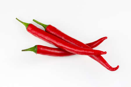 Fresh red pepper isolated on the white background
