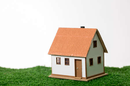 Dwelling environment, small model house isolated. House image.