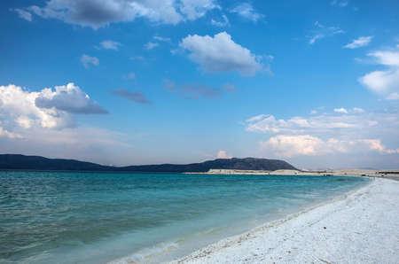 Lake Salda is a mid-size crater lake in Burdur, Turkey. Salda is likened to Turkey's Maldives.