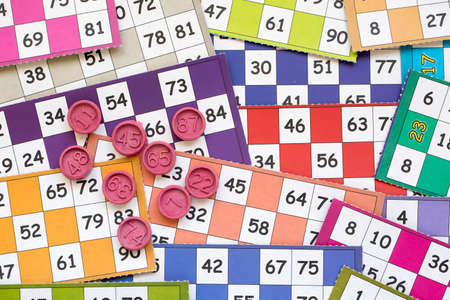 Bingo cards (Tombola / lotto) and with numbers isolated