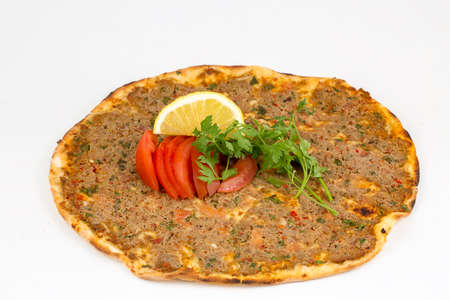 Traditional Turkish foods, Turkish delicious pizza; Lahmacun