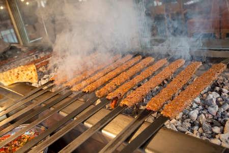 Traditional turkish adana kebab ready to cook