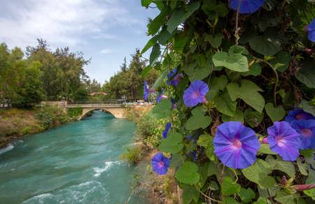 Tarsus Waterfall landscape, Turkey, Travel concept photo.